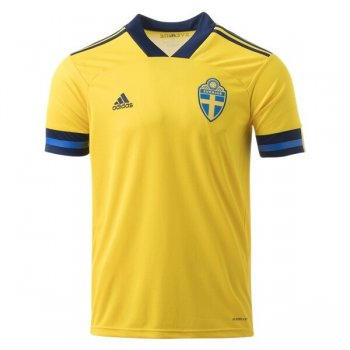 2020 Sweden Home Yellow Soccer Jersey Shirt