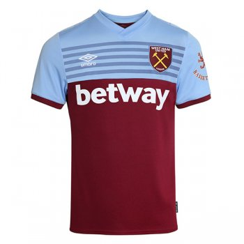 19-20 West Ham United Home Red Soccer Jersey Shirt