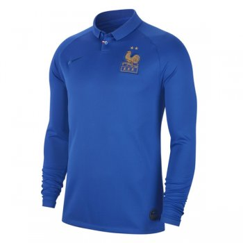 2019 France Centenary Long Sleeve Soccer Jersey Shirt