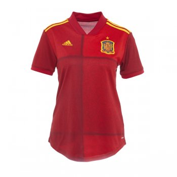 2020 Spain Home Women Soccer Jersey Shirt