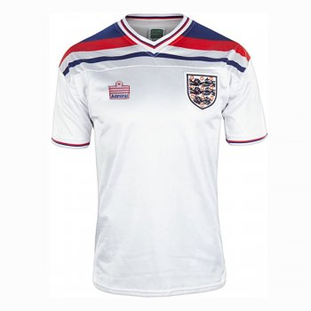 1980-1982 England Home White Retro Jersey
