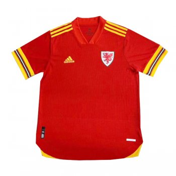 2020 Wales Home Authentic Soccer Jersey (Player Version)