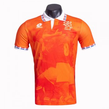 1996 Netherlands Home Retro Soccer Jersey
