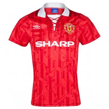 1992-1994 Manchester United Home Red Retro Jersey Shirt