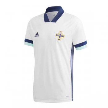 2020 Northern Ireland Away White Soccer Jersey Shirt