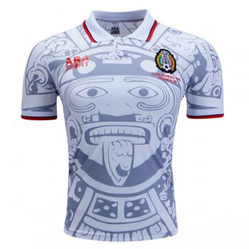 1998 Mexico Away White Retro Jersey Shirt