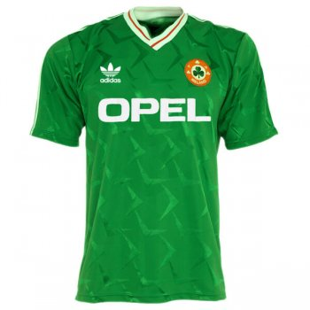 1990 Ireland Home Green Retro Jersey Shirt