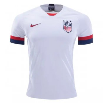 2019 USA Home White Soccer Jersey Shirt