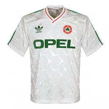1990 Ireland Away White Retro Jersey Shirt