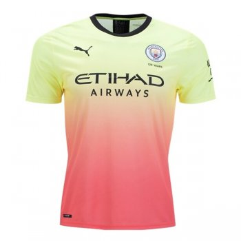 19-20 Manchester City Third Green&Red Soccer Jersey