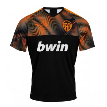 19-20 Valencia Away Black Soccer Jersey Shirt
