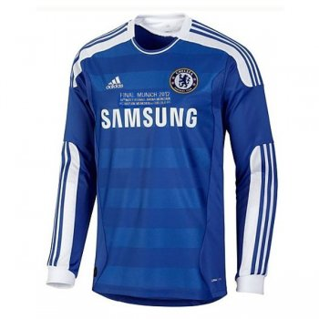 2011-2012 Chelsea Home Champion League Final Jersey Long Sleeve