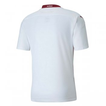 2020 Switzerland Away White Authentic Soccer Jersey (Player Version)