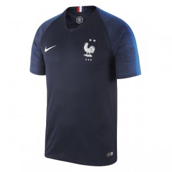 1819 France Home 2 Star Soccer Jersey Shirt