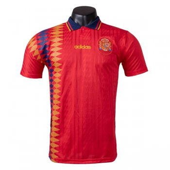 1994 Spain Home Red Retro Jersey Shirt