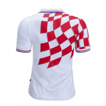 1998 Croatia Home White&Red Retro Jersey Shirt