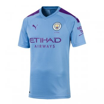 19-20 Manchester City Authentic Home Soccer Jersey(Player Version)