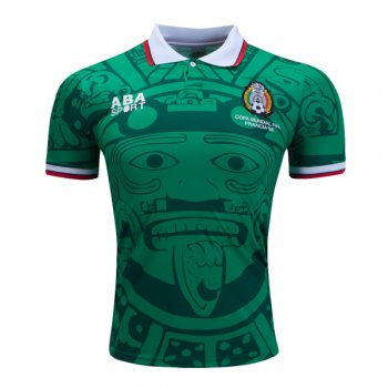 1998 Mexico Home Green Retro Jersey Shirt