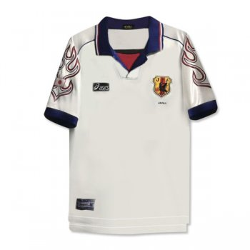 1998 Japan Away White Retro Soccer Jersey