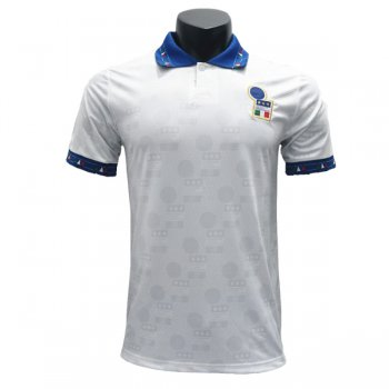 1994 World Cup Italy Away White Retro Jersey Shirt
