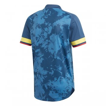 2020 Colombia Away Navy Authentic Soccer Jersey (Player Version)