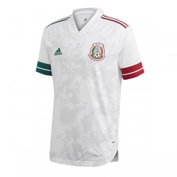 2020 Mexico Away White Authentic Soccer Jersey (Player Version)