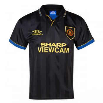 1993-1995 Manchester United Away Black Retro Jersey Shirt