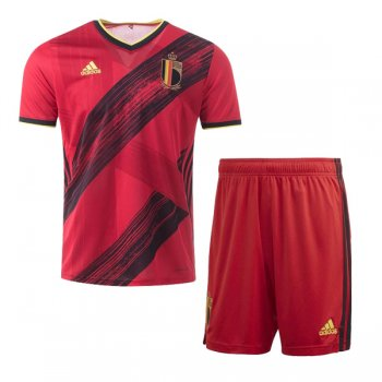 2020 Belgium Home Soccer Jersey Men Kit(Shirt+Short)