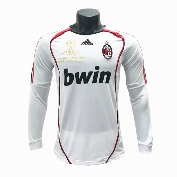 2006-2007 AC Milan Away Long Sleeve Retro Jersey Vintage ...