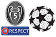 UEFA UCL StarBall&UCL Honor 5&Recpect Badges